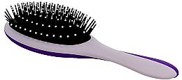 Voňavky, Parfémy, kozmetika Masážna kefa na vlasy, sivá s fialovou farbou - Twish Professional Hair Brush With Magnetic Mirror Grey-Indigo