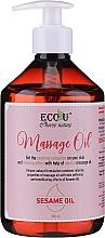 Voňavky, Parfémy, kozmetika Masážny olej - Eco U Massage Oil Sesame Oil