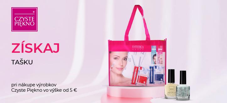 Pri nákupe výrobkov Czyste Piękno vo výške od 5 € získaj tašku ako darček