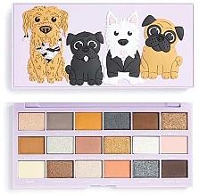 Voňavky, Parfémy, kozmetika Paleta očných tieňov, 18 odtieňov - I Heart Revolution Revo-Pooches Eyeshadow Palette
