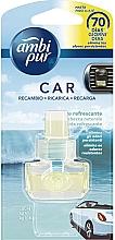 """Voňavky, Parfémy, kozmetika Náplň do osviežovača vzduchu do auta """"Osviežujúci tok"""" - Ambi Pur Air Freshener Refill Refreshing Stream"""