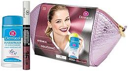 Voňavky, Parfémy, kozmetika Sada - Dermacol (lip/colour/4,8 g + remover/120ml + bag)
