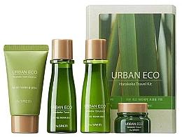 Voňavky, Parfémy, kozmetika Cestovná ošetrujúca sada s extraktom z novozélandského ľanu - The Saem Urban Eco Harakeke Travel 4 Kit (foam/25ml+ton/31ml+emul/31ml+cr/8ml)