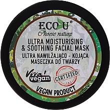 Voňavky, Parfémy, kozmetika Hydratačná a upokojujúca maska na tvár - Eco U Choose Nature Ultra Moisturing & Soothing Face Mask