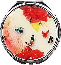Voňavky, Parfémy, kozmetika Kozmetické vreckové zrkadlo, motýle, 85444, viacfarebné motýle s kvetmi - Top Choice