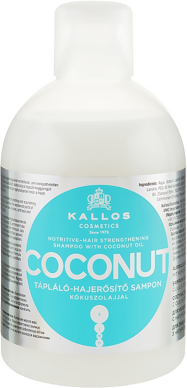 Výživový a spevňujúci šampón s kokosovým olejom - Kallos Cosmetics Coconut Shampoo