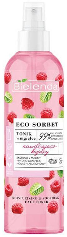 Tonikum v spreji na tvár s malinovým extraktom - Bielenda Eco Sorbet Moisturizing & Soothing Face Toner
