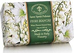 """Voňavky, Parfémy, kozmetika Prírodné mydlo """"Biele kvety"""" - Saponificio Artigianale Fiorentino White Flowers Scented Soap"""