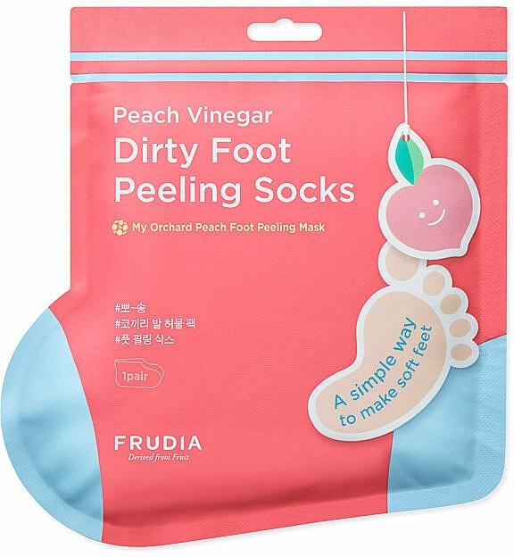 Maska-ponožky na pedikúru s vôňou broskyne - Frudia My Orchard Foot Peeling Mask — Obrázky N1