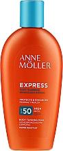 Voňavky, Parfémy, kozmetika Mlieko na opaľovanie pre rýchlejšie opaľovanie - Anne Moller Express Sunscreen Body Milk SPF50