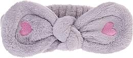 Voňavky, Parfémy, kozmetika Kozmetická čelenka do vlasov, šedá - Lash Brow Cosmetic SPA Band