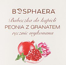 """Voňavky, Parfémy, kozmetika Kúpeľová bomba """"Pivónia s granátovým jablkom"""" - Bosphaera"""