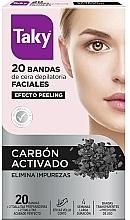 Voňavky, Parfémy, kozmetika Voskové pásiky s aktívnym uhlím na depiláciu tváre - Taky Activated Carbon Facial Wax Strips