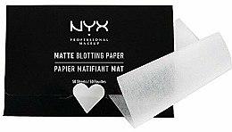 "Voňavky, Parfémy, kozmetika Utierky na tvár ""Matte Blotting"" - NYX Professional Makeup Blotting Paper"