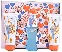 Voňavky, Parfémy, kozmetika Moschino I Love Love - Sada (edt/50ml+b/lot/100ml+sh/gel/100ml)