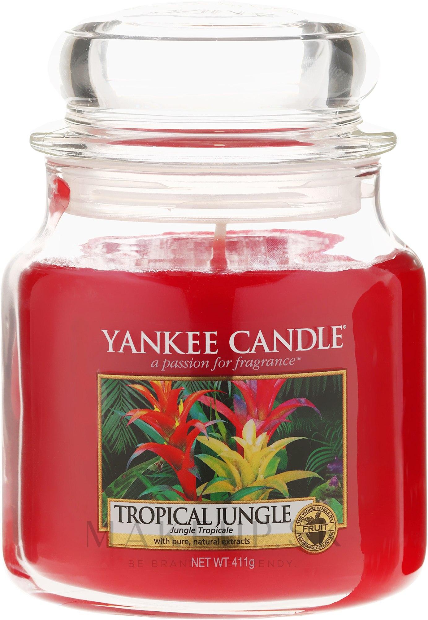 Vonná sviečka v plechovke - Yankee Candle Tropical Jungle — Obrázky 411 g