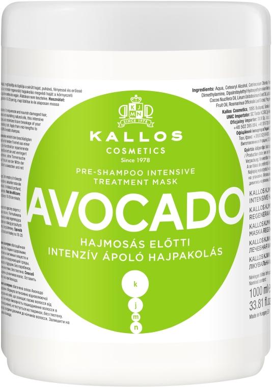 "Maska na vlasy ""Avokádo"" - Kallos Cosmetics KJMN Avocado Hair Mask"