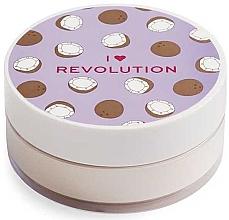 Voňavky, Parfémy, kozmetika Sypký púder na tvár kokosový - I Heart Revolution Loose Baking Powder Coconut