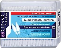Voňavky, Parfémy, kozmetika Vatové odličovacie tyčinky, 200 ks - Cleanic Professional