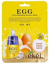 Voňavky, Parfémy, kozmetika Textilná maska s extraktom z vaječného žĺtka - Ekel Egg Ultra Hydrating Mask
