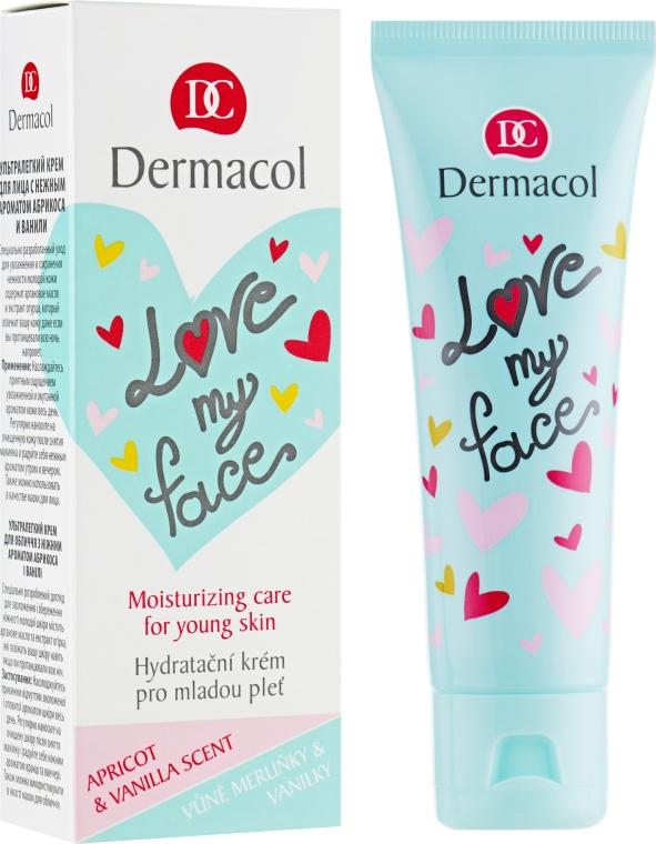 Emulzia na tvár s vôňou marhúľ a vanilky - Dermacol Love My Face Apricot & Vanilla Scent Face Cream  — Obrázky N1