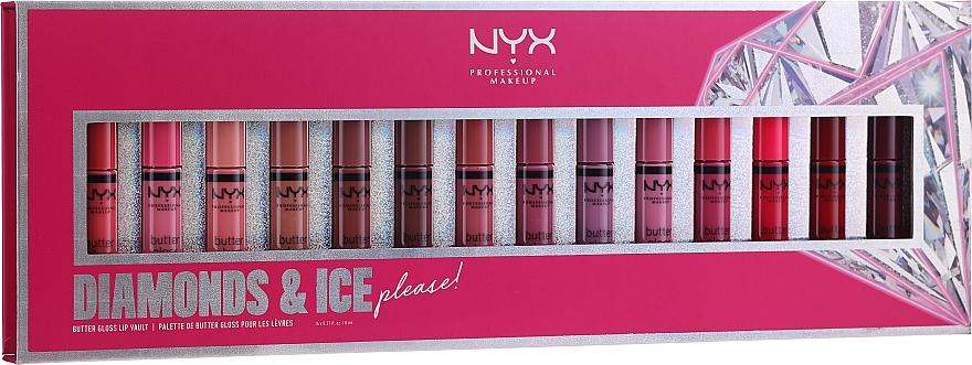 Sada - NYX Professional Makeup Diamonds & Ise (lip gloss/14x8ml) — Obrázky N1