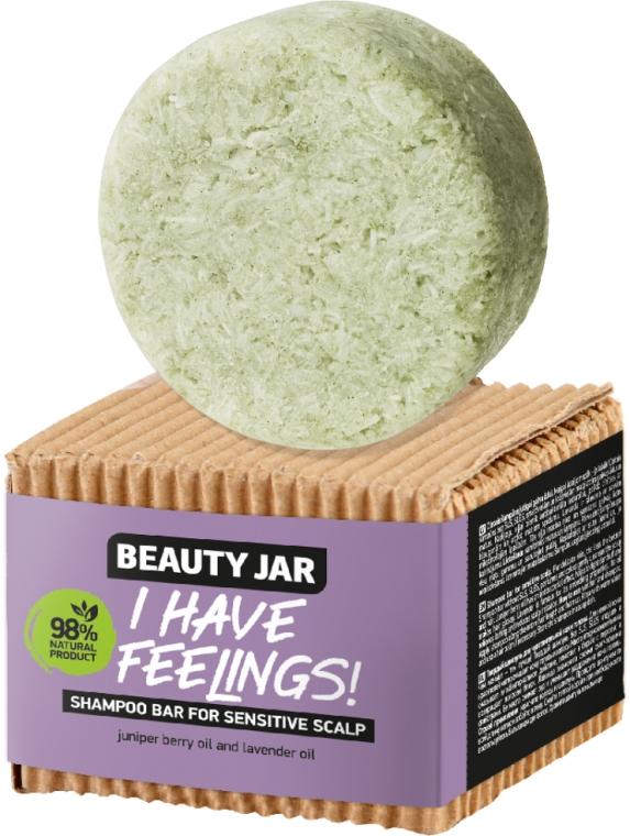 Tuhý šampón pre citlivú pokožku hlavy s olejom borievky a levanduľou - Beauty Jar I Have Feelings