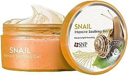 Voňavky, Parfémy, kozmetika Gél na tvár a telo so slimačím mucínom zmäkčujúci, zvlhčujúci, vyživujúci - SNP Intensive Snail Soothing Gel