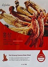 "Voňavky, Parfémy, kozmetika Textilná maska ""Ženšenový extrakt"" - Esfolio Red Ginseng Essence Mask Sheet"