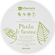 """Voňavky, Parfémy, kozmetika Krém na ruky """"Mäta a citrón"""" - La Saponaria Hand Cream Mint and Lemon"""