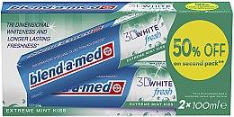"""Voňavky, Parfémy, kozmetika Sada zubnej pasty """"3D White"""" - Blend-a-med 3D White Fresh Extreme Mint Kiss"""