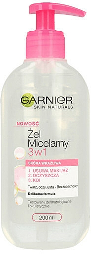 Micelárny gél pre citlivú pokožku - Garnier Skin Naturals Cleansing Micellar Gel