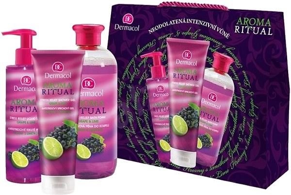 "Sada ""Hrozno a lime"" - Dermacol Aroma Ritual Grape & Lime (sh/gel/250ml+l/soap/250ml+b/foam/500ml)"