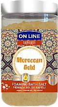 Voňavky, Parfémy, kozmetika Soľ do kúpeľa - On Line Senses Bath Salt Moroccan Gold