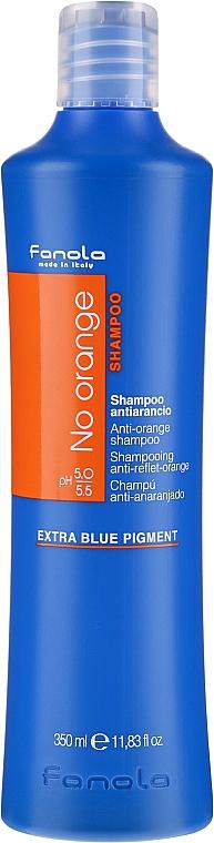 Šampón pre farbené vlasy s tmavými odtieňmi - Fanola No Orange Extra Blue Pigment Shampoo