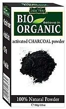 """Voňavky, Parfémy, kozmetika Prášok """"Aktívne uhlie"""" na starostlivosť o tvár a vlasy - Indus Valley Bio Organic Activated Charcoal Powder"""