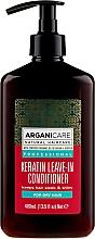 Voňavky, Parfémy, kozmetika Nezmazateľný kondicionér pre suché vlasy s keratínom - Arganicare Keratin Leave-in Conditioner For Dry Hair