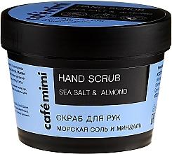"""Voňavky, Parfémy, kozmetika Peeling na ruky Morská soľ a mandle"""" - Cafe Mimi Hand Scrub"""