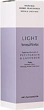 """Voňavky, Parfémy, kozmetika Sprej pre domov """"Petitgrain a levanduľa"""" - AromaWorks Light Range Room Mist"""