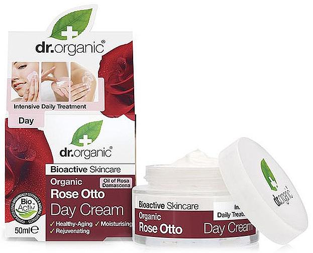 """Denný krém proti starnutiu """"Ruže otto"""" - Dr. Organic Bioactive Skincare Rose Otto Day Cream — Obrázky N1"""