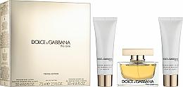 Voňavky, Parfémy, kozmetika Dolce & Gabbana The One - Sada (edp/75ml + b/l/50ml + sh/g/50ml)
