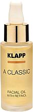Voňavky, Parfémy, kozmetika Olej na tvár s retinolom - Klapp A Classic Facial Oil With Retinol