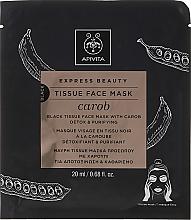 Voňavky, Parfémy, kozmetika Látková detoxikačná maska - Apivita Express Beauty Tissue Face Mask Carob