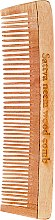 Voňavky, Parfémy, kozmetika Hrebeň na vlasy, drevený, 19 cm - Sattva Neem Wood Comb