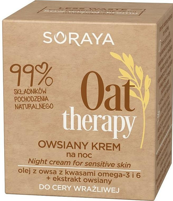 Nočný krém pre citlivú pokožku tváre - Soraya Oat Therapy Night Cream — Obrázky N2