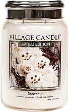 Voňavky, Parfémy, kozmetika Vonná sviečka v nádobe - Village Candle Snoconut Glass Jar