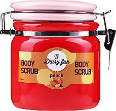 Telový peeling s vôňou broskyne - Delia Dairy Fun Body Scrub — Obrázky N1