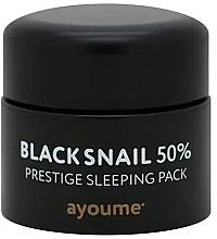 Voňavky, Parfémy, kozmetika Anti-aging bezoplachová maska na noc s čiernym slimačím mucínom - Ayoume Black Snail Prestige Sleeping Pack