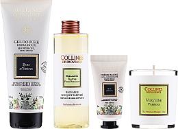 Voňavky, Parfémy, kozmetika Sada - Collines De Provence Gift Box (shr/gel/200ml + h/cr/30ml + candle/75g + aroma/diffuser/200ml)