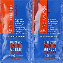 Voňavky, Parfémy, kozmetika Sada vzoriek - Fanola No Orange (shm/15ml + mask/15ml)